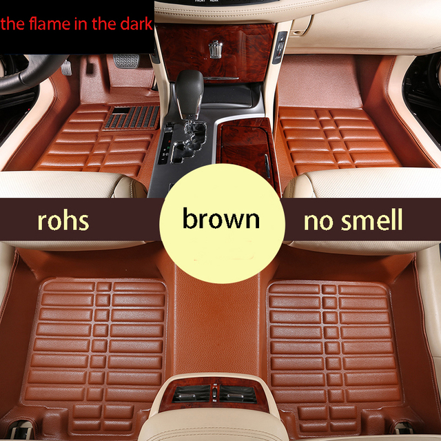 Free Shipping Leather Car Floor Mat Carpet Rug For Honda Civic 9th