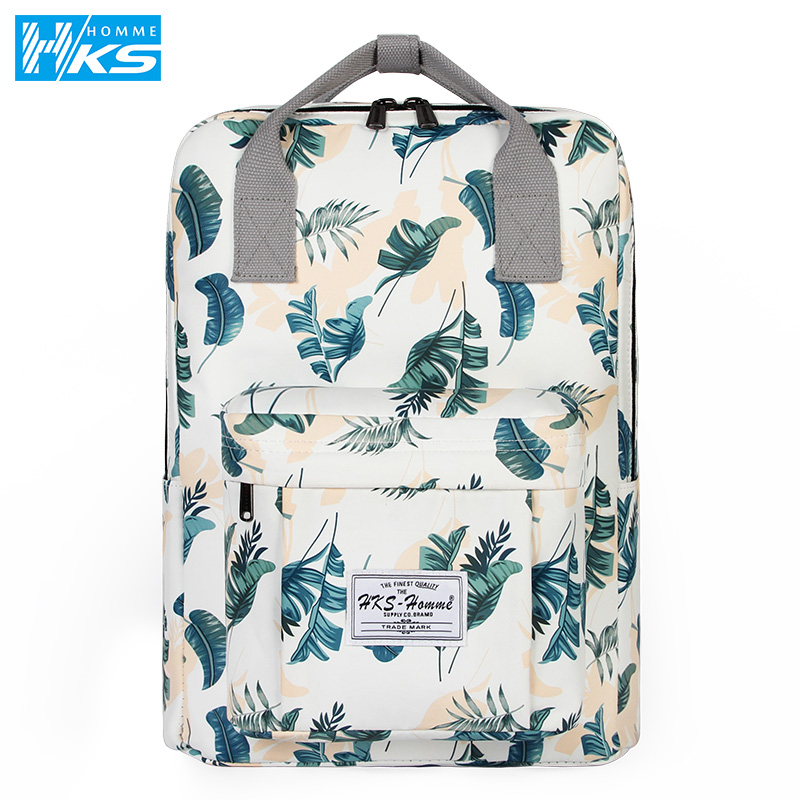 Cute Canvas Fashion Backpack Female Backpack Design For Girls Leisure Travel School Simple Personality Laptop Backpack