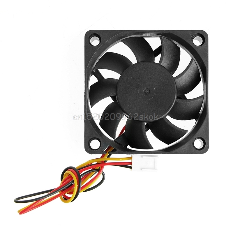 fan DC 12V 3-Pin 60x60x15mm PC Computer CPU System Sleeve-Bearing Cooling Fan 6015 #H029# personal computer graphics cards fan cooler replacements fit for pc graphics cards cooling fan 12v 0 1a graphic fan