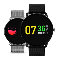 Men Women Smart Watches for Android Phones Heart Rate Monitoring Smart Watch Male Stainless Steel Sports Smartwatch for Running