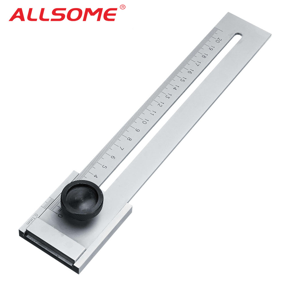 ALLSOME 200mm/250mm/300mm Screw Cutting Marking Gauge Mark Scraper Tool For Woodworking Measuring HT2438-2440