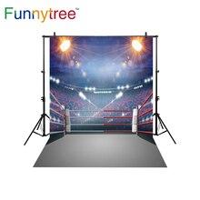Funnytree backdrop para estúdio fotográfico fundo photobooth prop festa de concurso público do estádio de boxe profissional