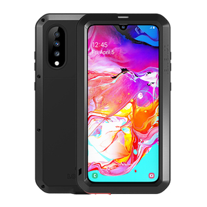 Image 2 - Aluminum Metal Armor Full Body Case For Samsung Galaxy A70 Case 360 Shockproof With Gorrila Glass Cover For Samsung A70 Case