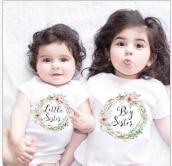 Детская одежда; летняя одежда для маленьких девочек; Одежда для крупных сестер; комбинезон; одежда; футболка; одинаковые комплекты для семьи - Цвет: Многоцветный