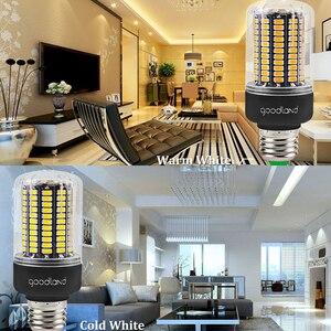 Image 5 - Goodland E27 LED מנורת E14 LED הנורה 220V 110V LED אור 3.5W 5W 7W 9W 12W 15W 20W נוריות תירס אור SMD 5736 אין הבהוב אורות