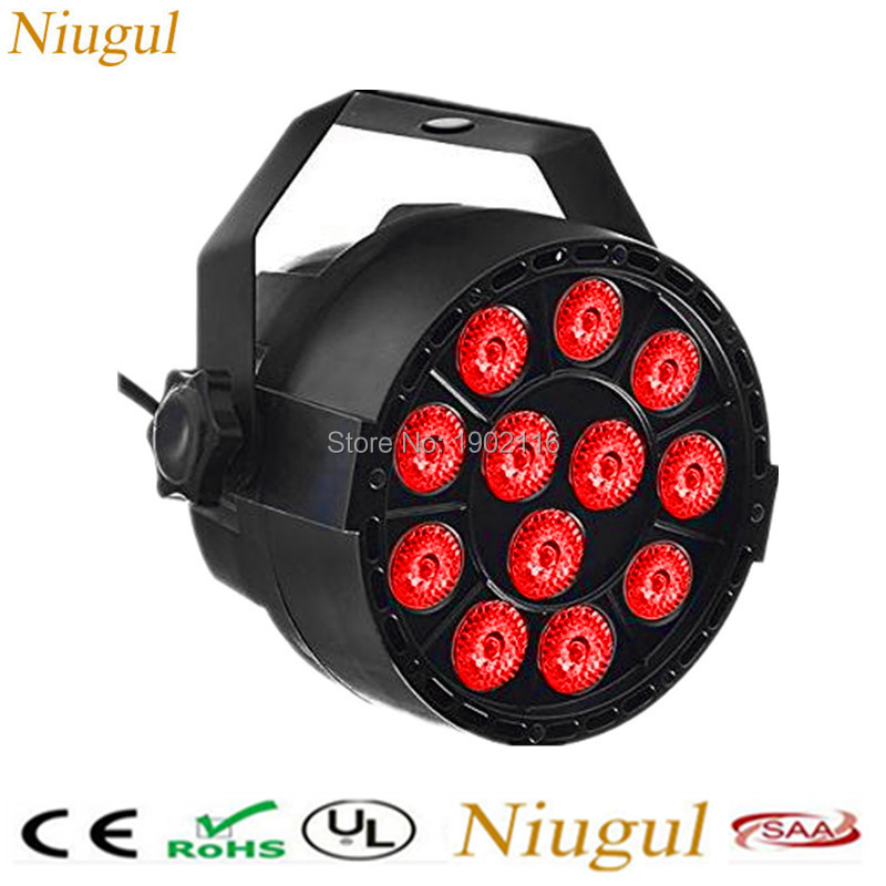 Niugul Par Light 12 LED RGB 3IN1 DMX512 Stage Lighting for Club Disco Party Ballroom KTV Bar Wedding DJ Live Show LED PAR lamp