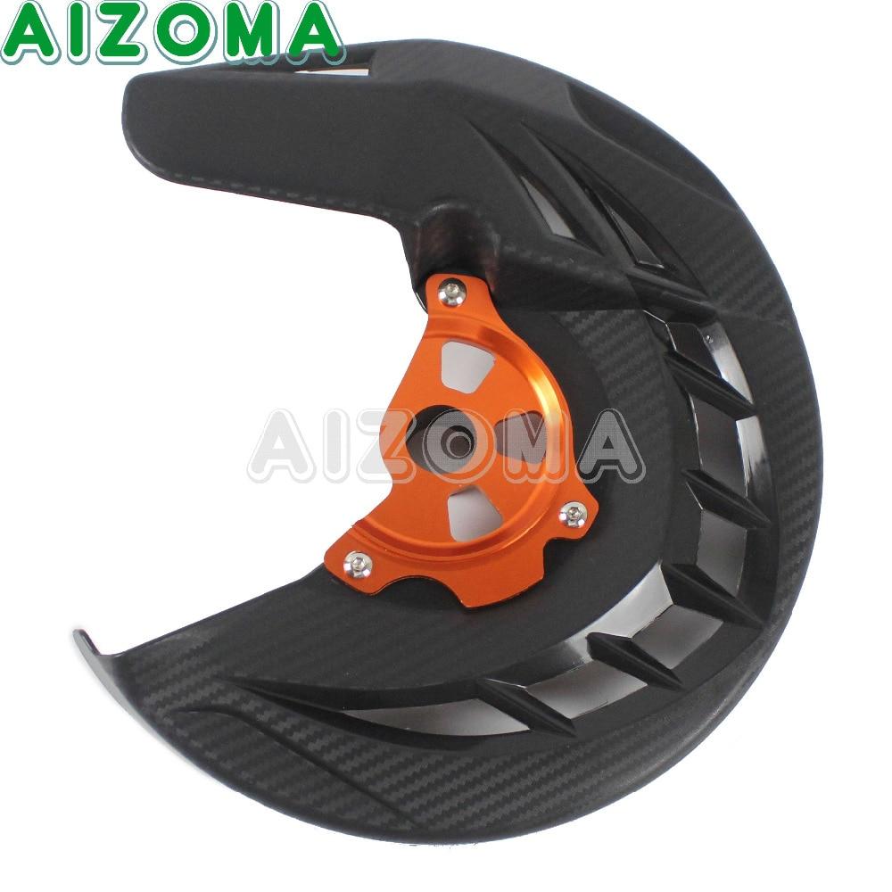 Black X-Brake Front  Brake Disks Rotor Guard Cover For Huaqvarna Husaberg TC FC TE FE FS FX 125 250 300 KTM 120-530 Motocross