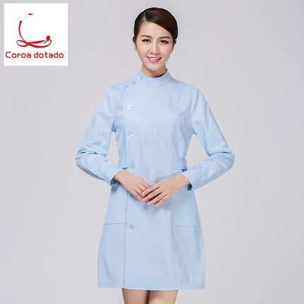 Nurses wear long sleeves slim body students hospital pharmacy oral overalls in Nurse Uniform from Novelty Special Use