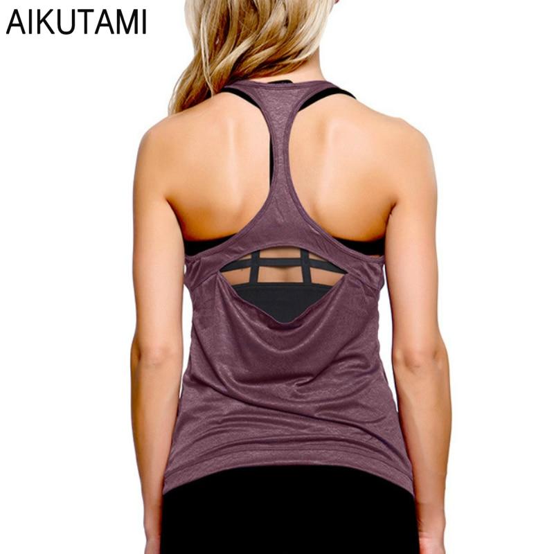 Womens T Shirt Tops Sport Shirt Yoga Top Backless Haut