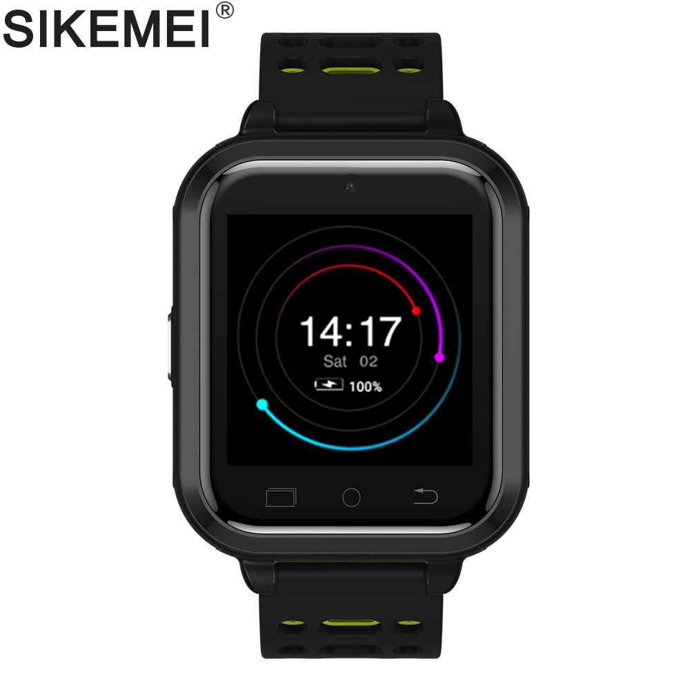 SIKEMEI 4G Network Smart Watch Android 6.0 Phone with Camera Heart Rate GPS WIFI Bluetooth FDD WCDMA GSM Nano SIM Waterproof M1 gk310 portable smart 4g gps tracker compatible with lte wcdma gsm network and touch screen with two way talking gps