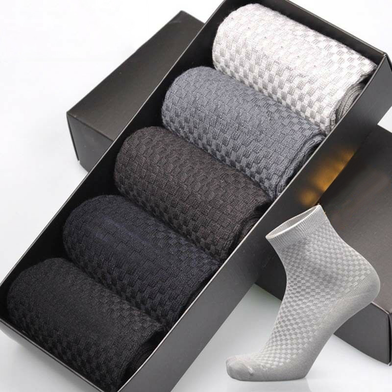 Breathable Anti-Bacterial Business Deodorant Bamboo Fiber Socks Sock Men 1 Pair