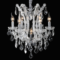 Crystal Chandelier Russia LED Dining Room Light Lustres De Cristal 7 Lamp Chandelier Modern Home Lighting