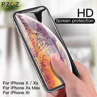 PZOZ iPhone Xs Max X Xr S Protector de pantalla 0,3mm vidrio templado 5D borde curvo cubierta completa teléfono Protector protección de la película de vidrio