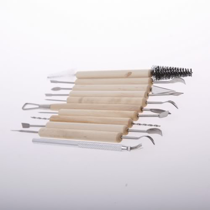 Dateien 11 Teil/satz Holz Polymer Clay Wachs Seife Sculpting Modellierung Doppelseitige Skulptur Diy Werkzeuge Für Clay Keramik Carving Modellierung Hindernis Entfernen Werkzeuge