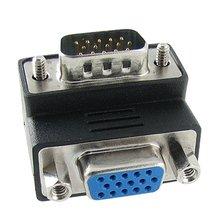 15-контактный VGA Мужчины к Женщине M/F Прямым Углом Адаптер
