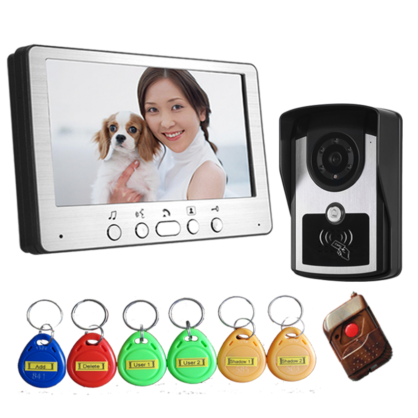 Freeship 7 Inch Video Door Phone Doorbell Intercom Kit 1-camera 1-monitor Night Vision Wired