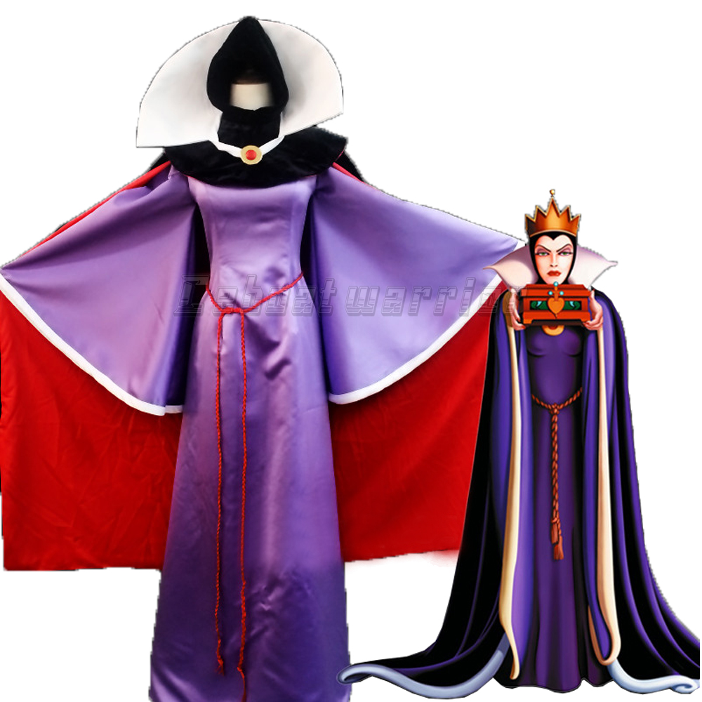 Snow White Evil Queen Luxury Dress Adult Women Halloween Anime Cosplay Costume Custom made halloween queen cosplay dress