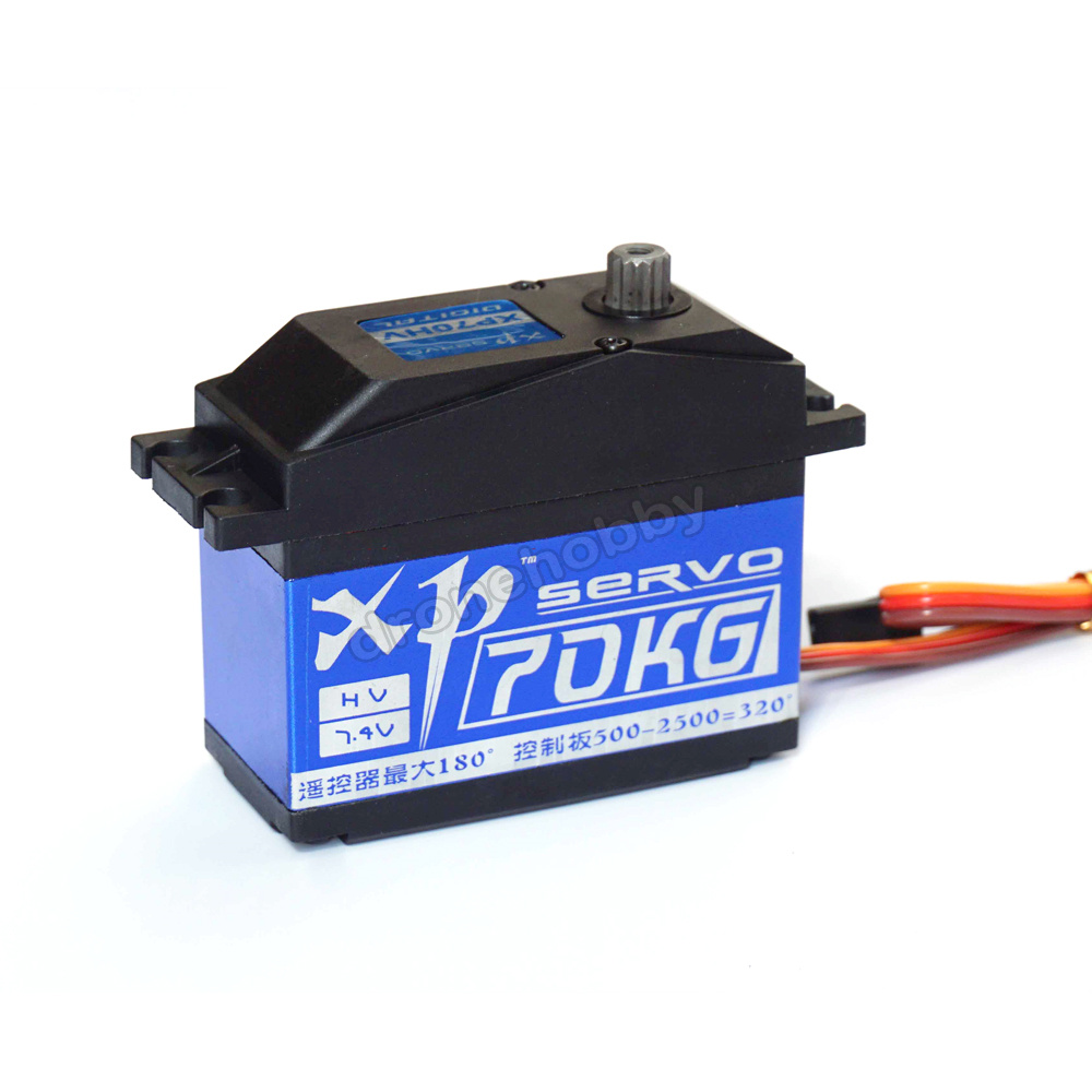 XP70HV 70kg Digital Servo 180/320 degrees Large Torque Metal Gear Digital Servo 70KG.com for RC Robot Manipulator jx servo pdi 6115 mg kg 15 large torque torque metal gear steering gear digital hollow cup standards