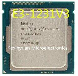 معالج إنتل زيون E3-1231 V3 E3 1231 V3 رباعية النواة LGA1150 سطح المكتب وحدة المعالجة المركزية 100% العمل بشكل صحيح سطح المكتب بروسس