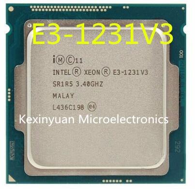 Процессор Intel Xeon E3-1231 V3 E3 1231 V3 четырехъядерный процессор LGA1150 настольный процессор 100% работает правильно настольный процессор Proces