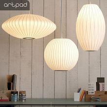 Artpad японский чистый белый Шелковый абажур подвесной светильник