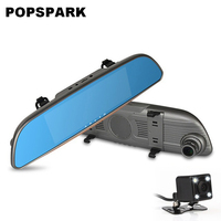 NEW 7 Touchl Car DVR Camera Mirror GPS Bluetooth Android 4 4 Dual Lens FHD 1080P