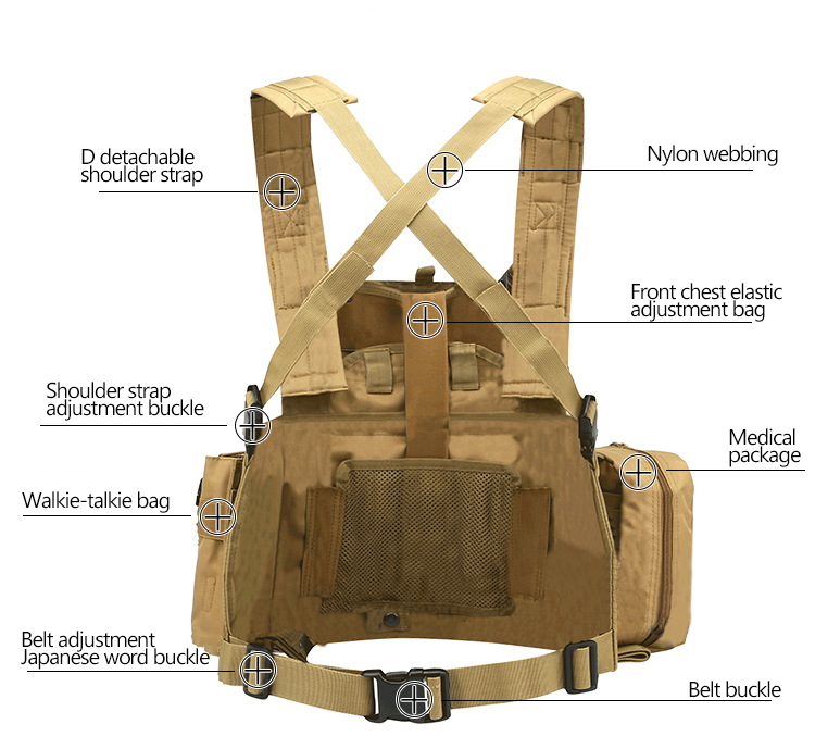 2019 Tactical Army Vest Marine Land Triple Magazine Paintball ... dc123219191a1