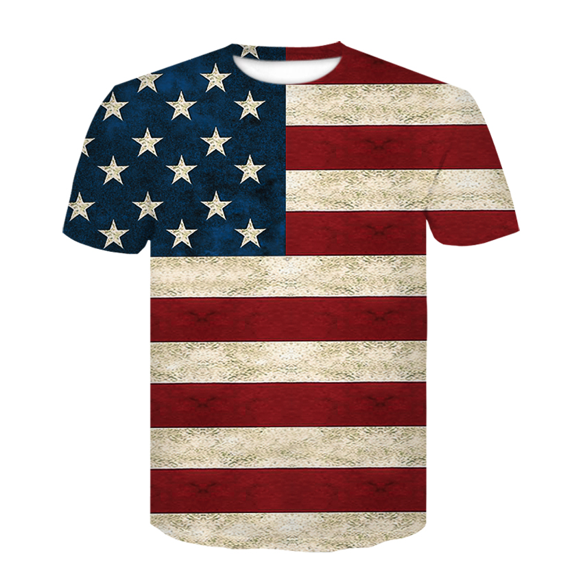 New USA Flag <font><b>T</b></font>-<font><b>shirt</b></font> <font><b>Men</b></font>/Women <font><b>Sexy</b></font> <font><b>3d</b></font> Tshirt Print Striped American Flag <font><b>Men</b></font> <font><b>T</b></font> <font><b>Shirt</b></font> Summer Tops Tees Plus 4XL image