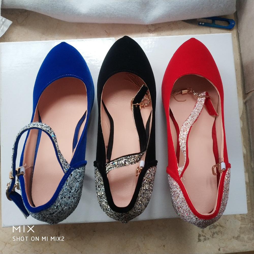 Image 5 - salu shoes woman 2019 Women Pumps Fashion Classic High Heels Shoes Sharp Head Platform Wedding Women Dress Shoes Plus Size 34 43-in Women's Pumps from Shoes