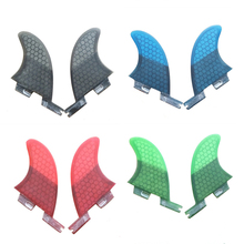 FCSII GL Surfboard Blue/Black/Red/Green color Honeycomb Fins Twin fin set FCS 2 Fin Hot Sell II Quilhas