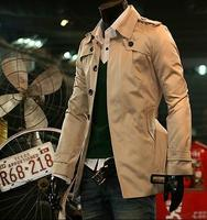 Cheap ! Fashion new designer slim sexy trench coat men overcoat long sleeve mens clothing business outerwear casaco masculino