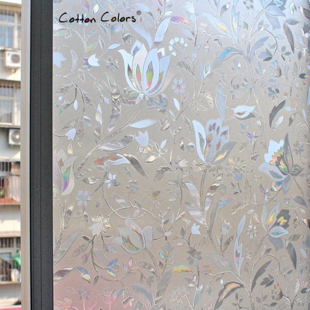 CottonColors PVC Fenstertönungsfolien No-Glue 3D Static Flower - Wohnkultur - Foto 5