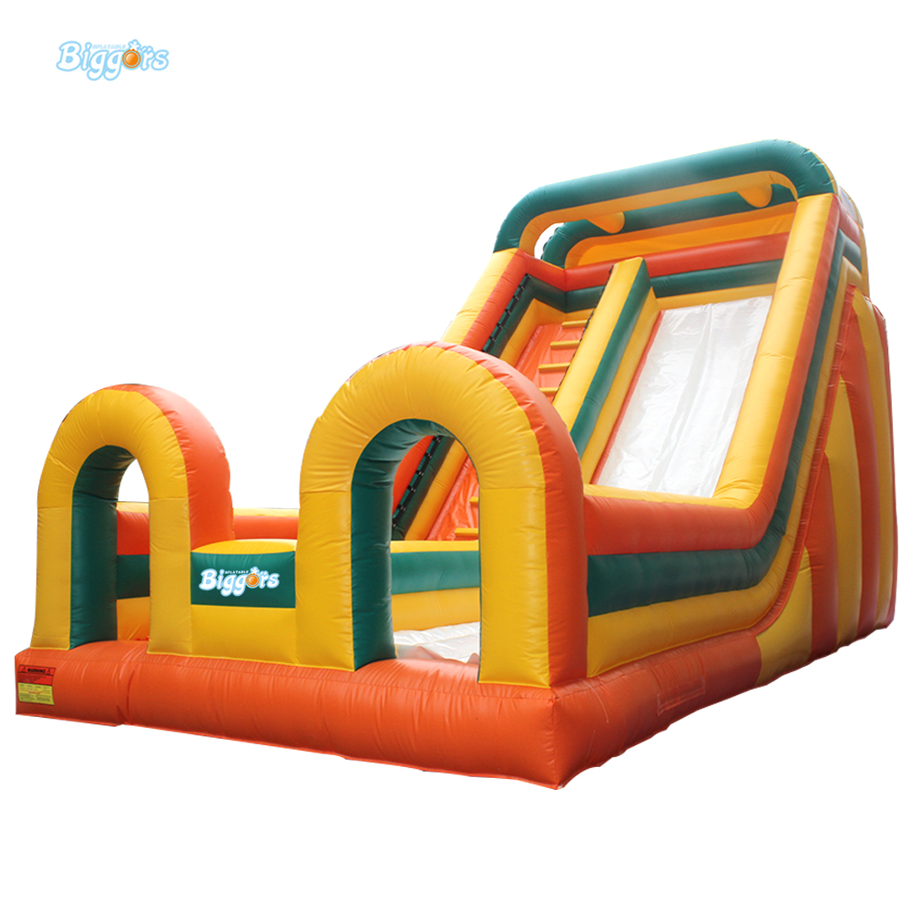 Colorful Adults And Kids Inflatable Slide Game For Outdoor. jungle commercial inflatable slide with water pool for adults and kids