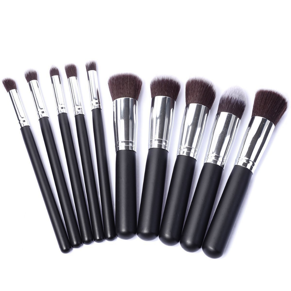 10 Pieces/set Makeup Brushes Sets & Kits Cosmetic Tool Face Eyes Lips Make up Brush Beauty Essentials for Eye Shadow & Foudation 1set new 4 in1 makeup beauty diy facial face mask bowl brush spoon stick tool set