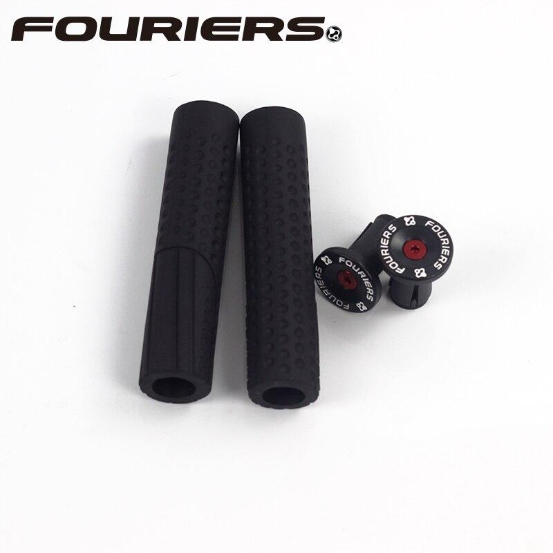 Fouriers Hand Grip Bike MTB Silicone Rubber Foam Handlebar Grips Anti Slip Shock Absorging 130mm грипсы ethic rubber grips blue
