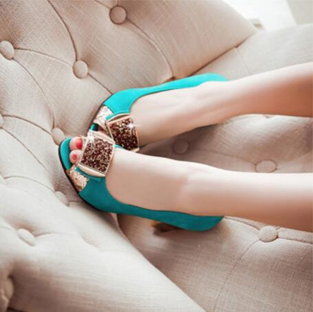 Para Strass zapatos mujer 7 cm Grosso