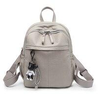 Women Backpack Leather Woman Functional Bags Waterproof Backpack PU Big Capacity Women Bag School Student Bags For Girl Backpack