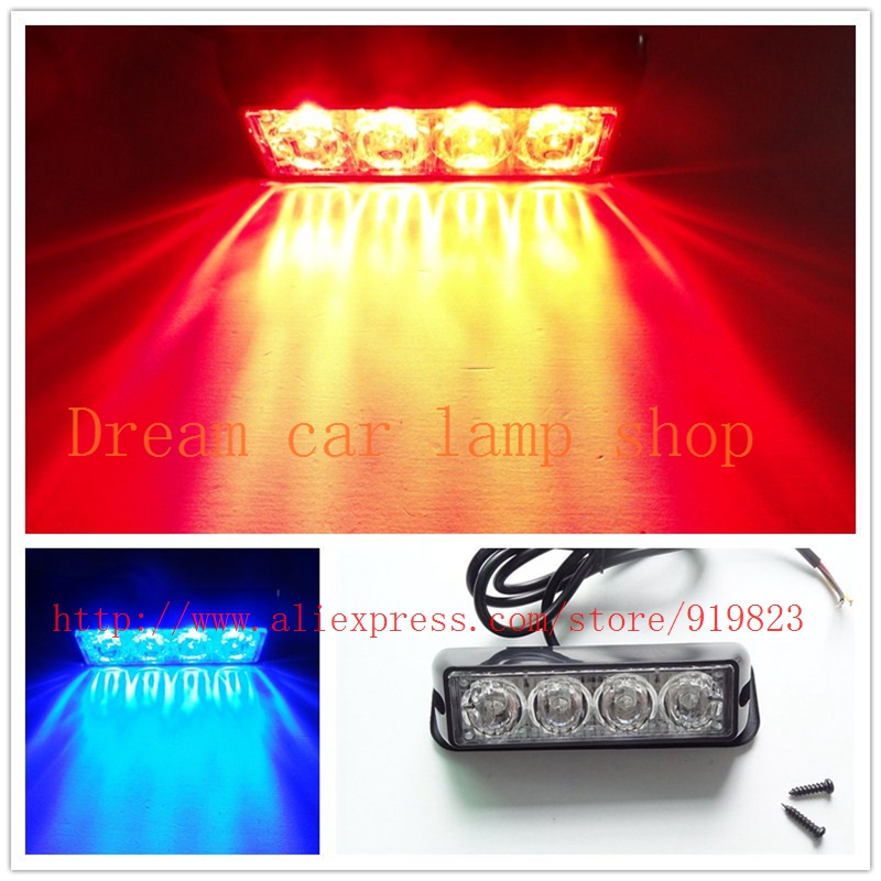 08002  4 LED Car Truck Emergency Beacon Light Bar Hazard Strobe Warning 12 Flashing Mode 4W Universal fit for SUV Trucks skylark светодиодная лампа skylark e14 7w 2700k свеча матовая b032