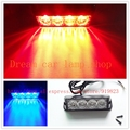 Good Promotion 4 LED Car Truck Emergency Beacon Light Bar Hazard Strobe Warning 12 Flashing Mode 4W Universal fit for SUV Trucks
