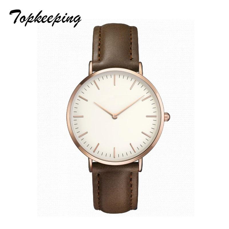 Topkeeping marca moda mujer relojes fino casual señoras simples - Relojes para mujeres