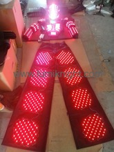 LED robot costumes with digital LED helmet / illuminated LED clothing/LED robot suit