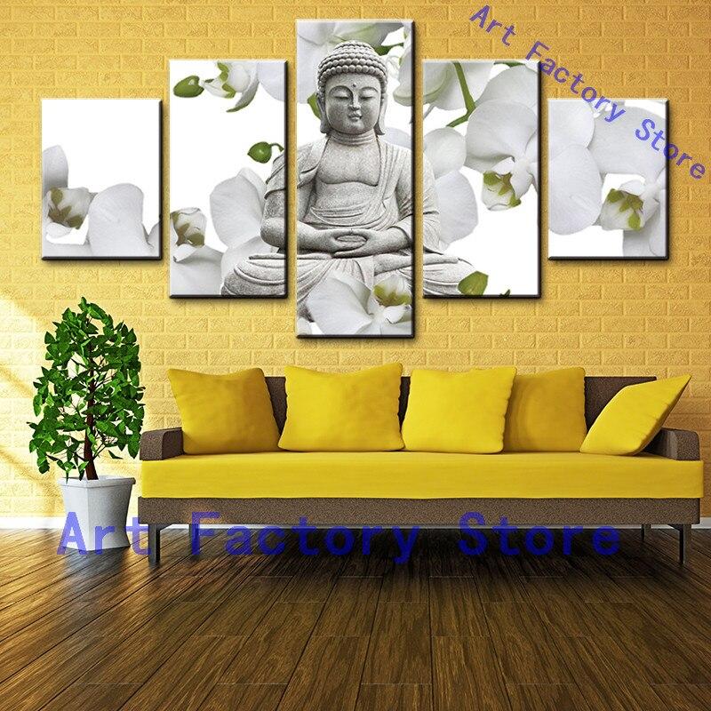 Modern Canvas Painting Zen Buddhism Buddha Art Wall Decor Home ...