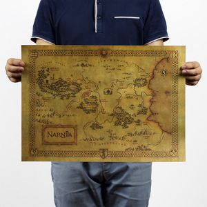 Image 1 - Hot sale, About Film movie,Narnia/treasure map/classic movie/kraft paper/bar poster/Retro Poster/decorative Painting 51x35.5cm