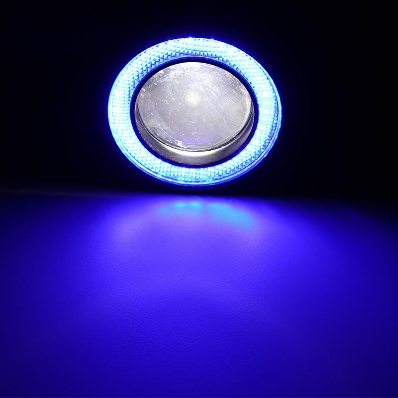 KYLUMMY 2 Pcs Car LED Fog Light Angel Eyes Daytime Running Lights R500 2.5/3.0/3.5 Inch 30W 7000K DRL COB LED 7 Colors With Lens