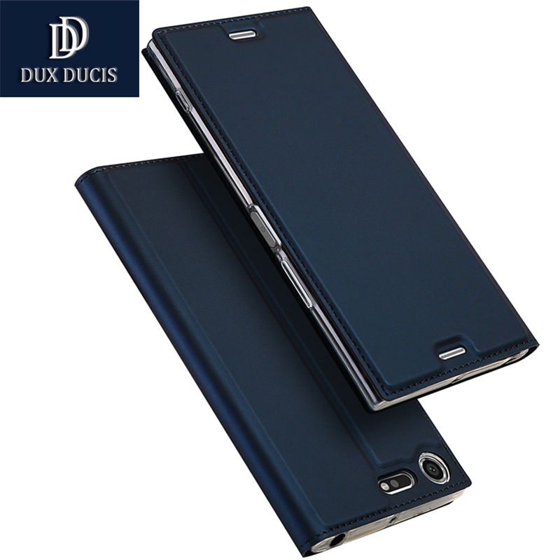 DUX DUICS for Sony Xperia XZ Premium case flip PU leather soft silicon back for Sony