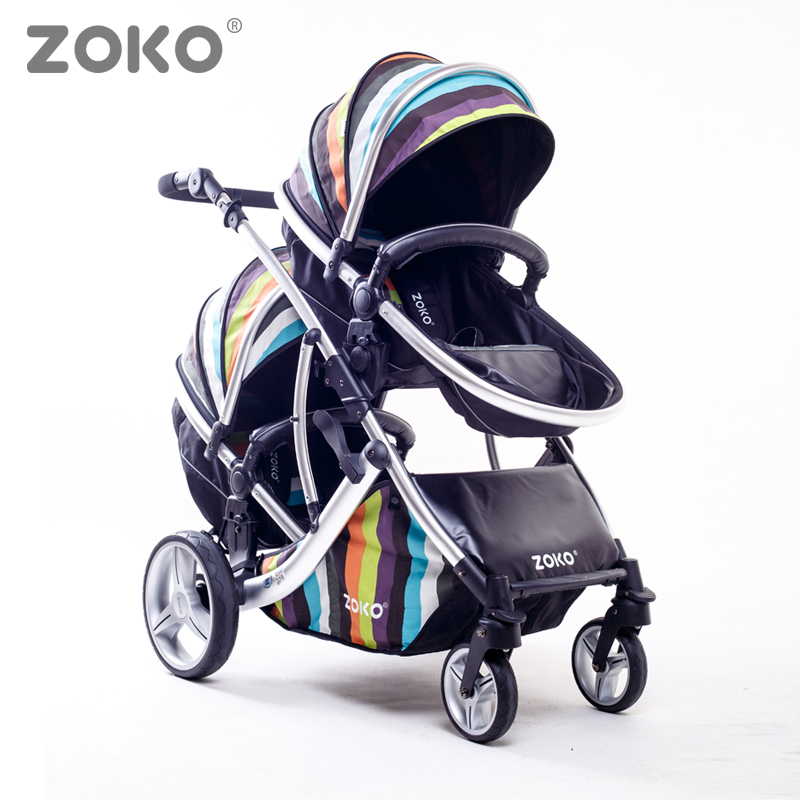 Twins Stroller,Two Directions, Sit & Lie Down, High qiuality, High view, Super Suspension, Aluminum Alloy Frame, Baby Pushchair.