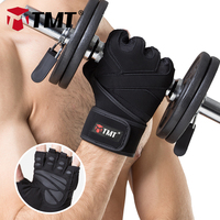 TMT Sports Gym Gloves Half Finger Breathable Weightlifting Fitness Gloves Dumbbell Men Women Body Building Gym