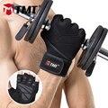 TMT deportes gimnasio guantes medio dedo respirables levantamiento de pesas guantes de Fitness con mancuernas hombres mujeres Body Building gimnasio guantes M/L /XL