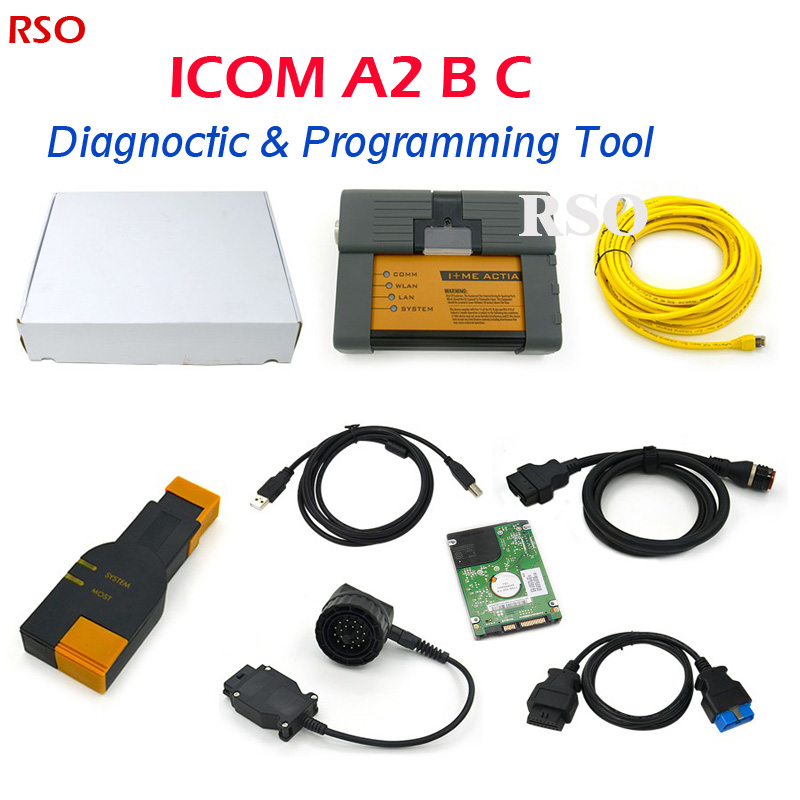 High quality ICOM A2+B+C Plus for B-M-W With Reset Button V2016.07 HDD software DHL free ICOM A2 for BM-W Programming&Diagnostic  newest version icom a2 hdd for bmw a2 super hdd 320g for bmw icom a2 hdd v2016 9 support multi languages free shipping
