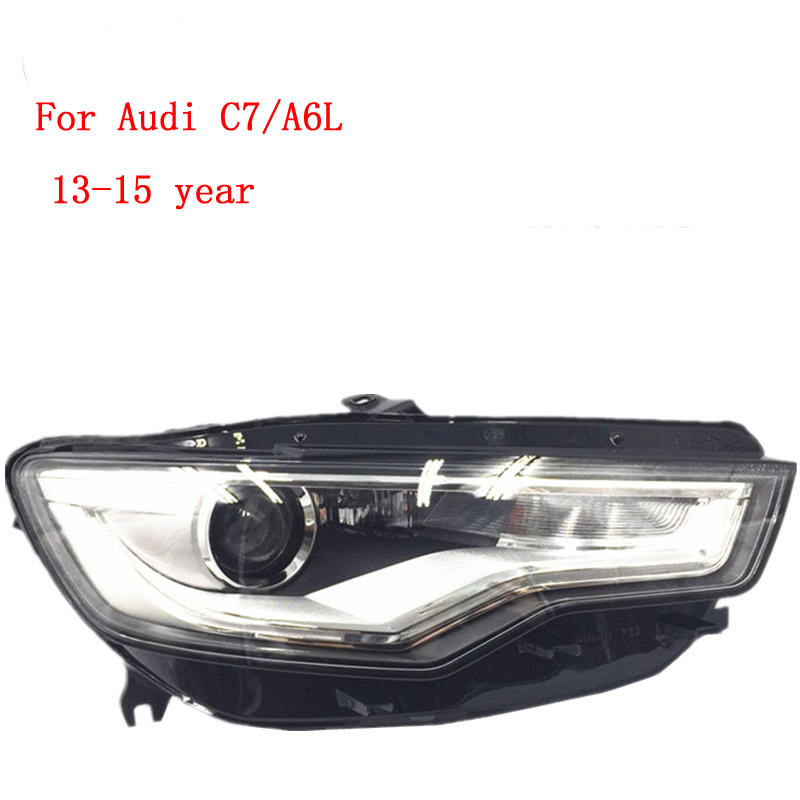 for 13 15 Audi A6 headlights front combination lamp A6L headlights half assembly C7 Xenon headlights
